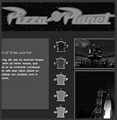 Responsive Pizza Planet Style Tile