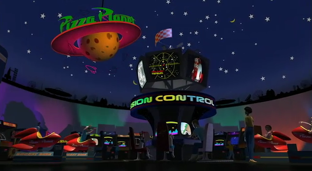 Inside Pizza Planet