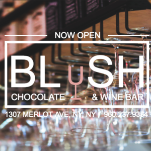 Blush a Wine & Chocolate Bar Fictional Website