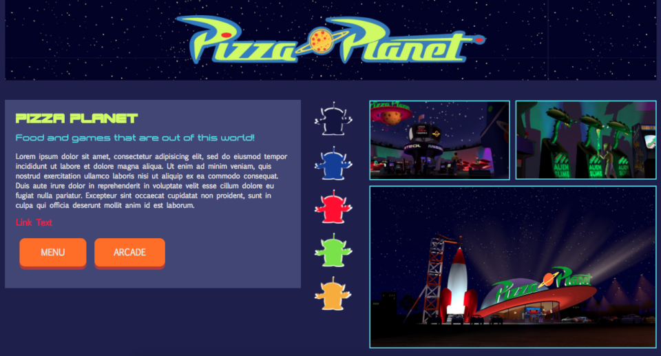 Pizza Planet Responsive Style Tile
