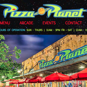 Pizza Planet Fictional Responsive Website