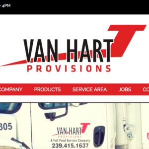 J VAN HART PROVISIONS CUSTOM WORDPRESS SITE