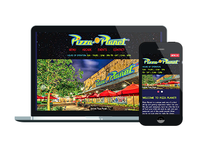 Pizza Planet Fictional Mockup