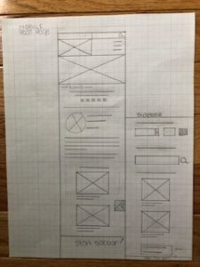 mobile post page wireframe